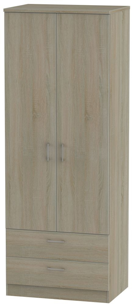 Devon Darkolino 2 Door 2 Drawer Tall Wardrobe