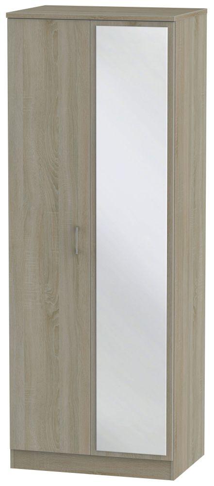 Devon Darkolino 2 Door Tall Mirror Wardrobe