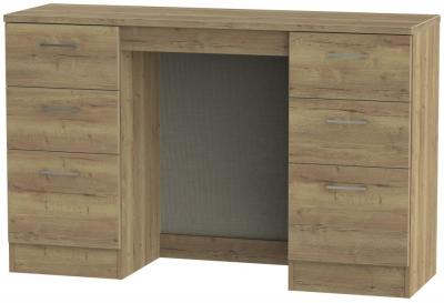 Devon Stirling Oak Double Pedestal Dressing Table