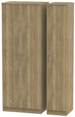 Devon Stirling Oak 3 Door Wardrobe