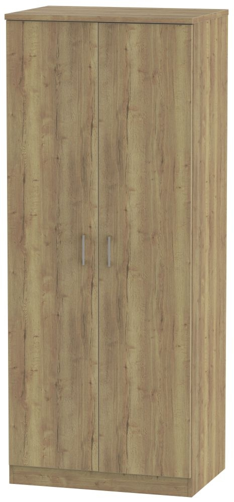 Devon Stirling Oak 2 Door Plain Wardrobe