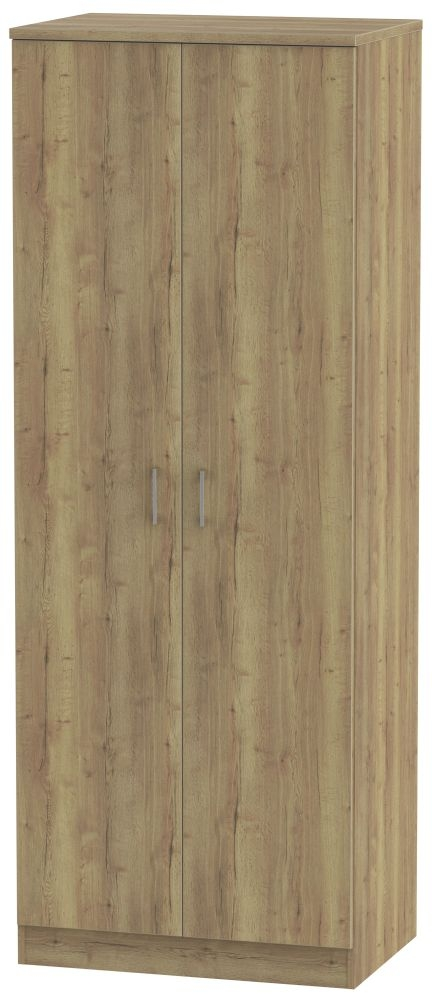 Devon Stirling Oak Wardrobe - Tall 2ft 6in Plain