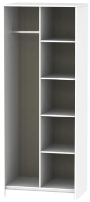 Diamond White Open Shelf Wardrobe