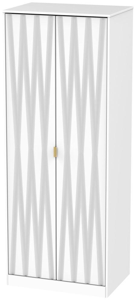 Diamond White 2 Door Wardrobe