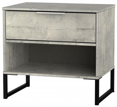 Diego Concrete 1 Drawer Double Locker