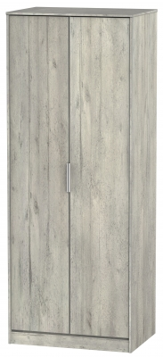 Diego Concrete 2 Door Tall Wardrobe
