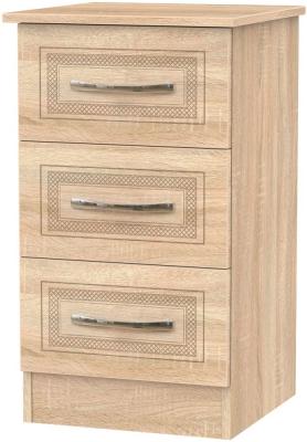 Dorset Bardolino 3 Drawer Bedside Cabinet