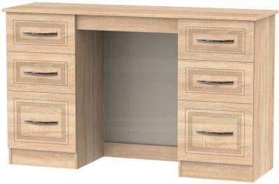 Dorset Bardolino Double Pedestal Dressing Table