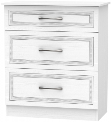 Dorset White 3 Drawer Deep Chest