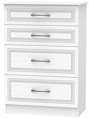 Dorset White 4 Drawer Deep Chest