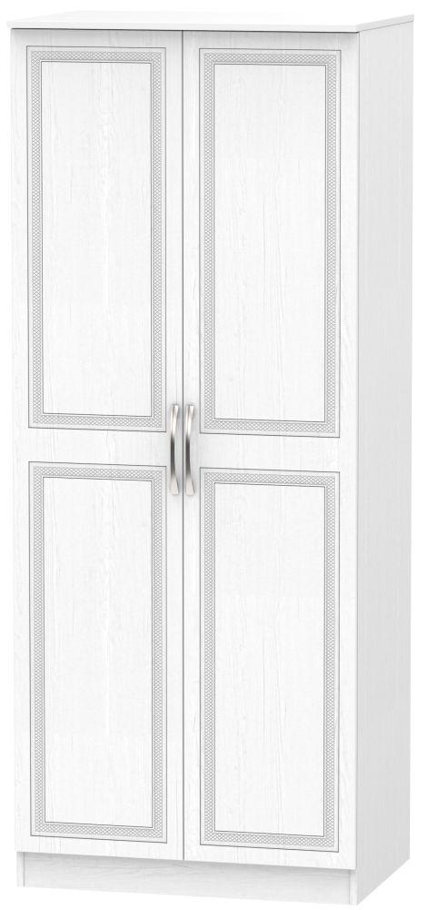 Dorset White 2 Door Plain Wardrobe