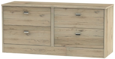 Dubai Bordeaux Oak 4 Drawer Bed Box