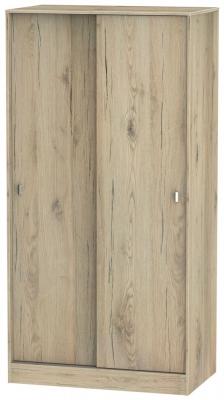 Dubai Bordeaux Oak 2 Door Sliding Wardrobe