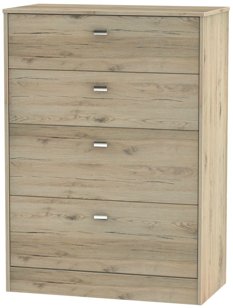 Dubai Bordeaux Oak 4 Drawer Deep Chest