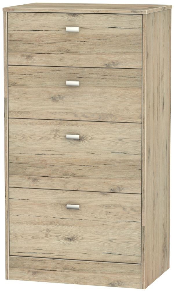 Dubai Bordeaux Oak 4 Drawer Midi Chest
