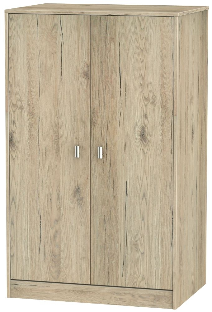 Dubai Bordeaux Oak Wardrobe - 2ft 6in Plain Midi