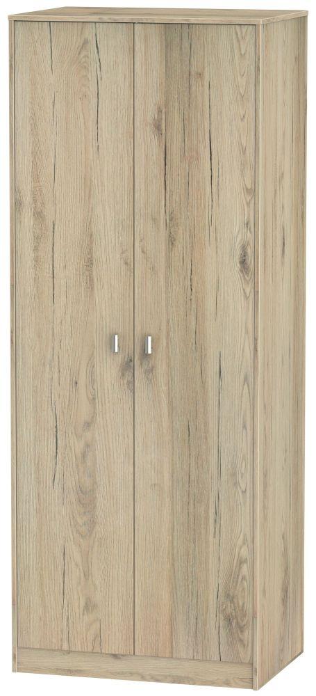Dubai Bordeaux Oak 2 Door Hanging Wardrobe