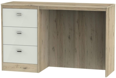 Dubai Kaschmir Matt and Bordeaux Oak 3 Drawer Desk