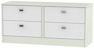 Dubai Rustic White and Kaschmir Matt 4 Drawer Bed Box