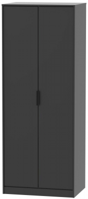 Hong Kong Black 2 Door Wardrobe