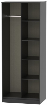 Hong Kong Black Open Shelf Wardrobe