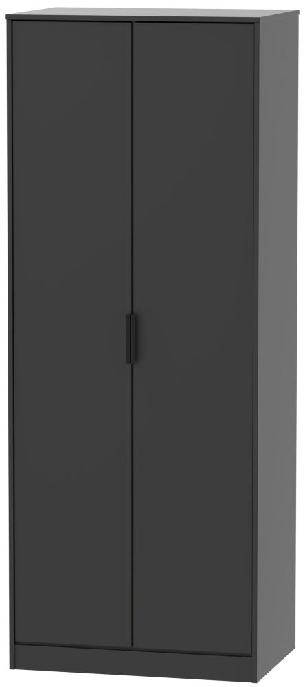 Hong Kong 2 Door Wardrobe - Black Matt