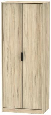 Hong Kong Bordeaux Oak 2 Door Wardrobe