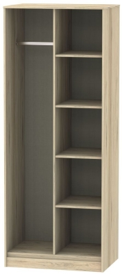 Hong Kong Bordeaux Oak Open Shelf Wardrobe