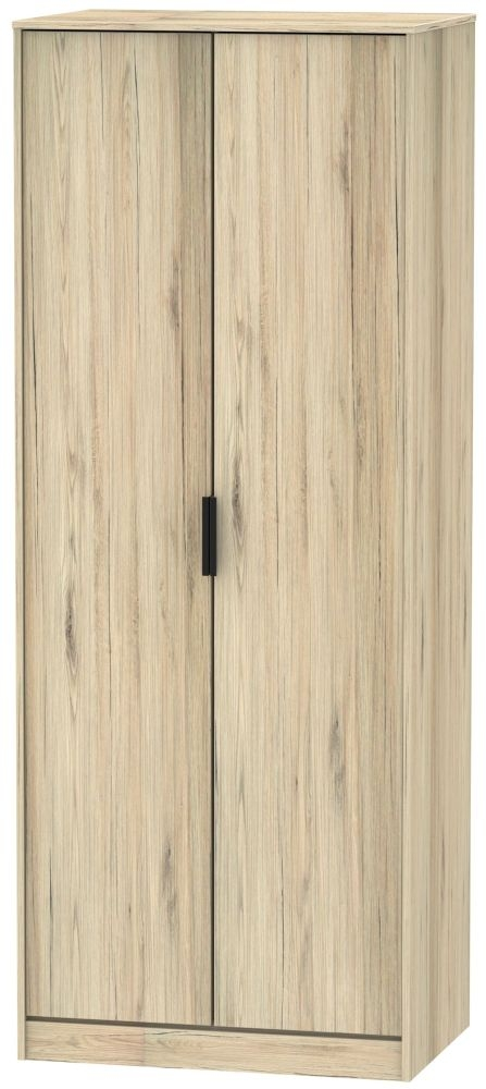 Hong Kong Bordeaux Oak 2 Door Wardrobe