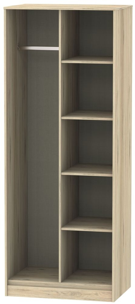 Hong Kong Bordeaux Oak Open Shelf Wardrobe