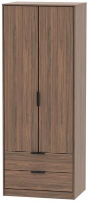 Hong Kong Carini Walnut 2 Door 2 Drawer Wardrobe
