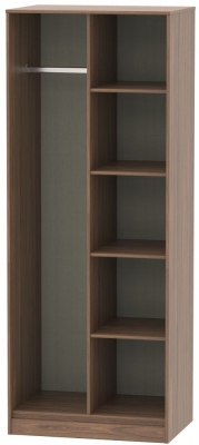 Hong Kong Carini Walnut Open Shelf Wardrobe