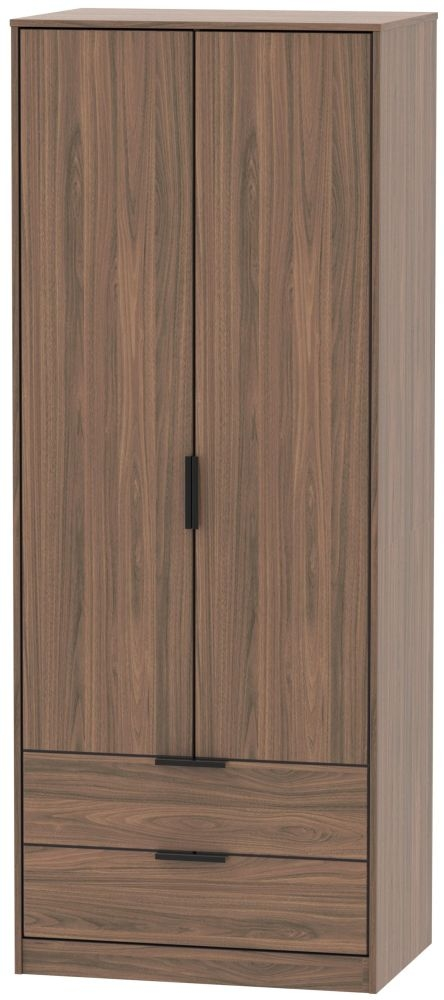 Hong Kong Carini Walnut 2 Door 2 Drawer Wardrobe