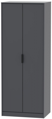 Hong Kong Graphite 2 Door Wardrobe