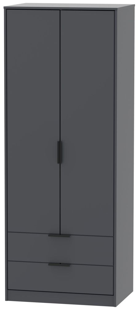 Hong Kong Graphite 2 Door 2 Drawer Wardrobe