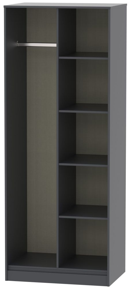 Hong Kong Graphite Open Shelf Wardrobe