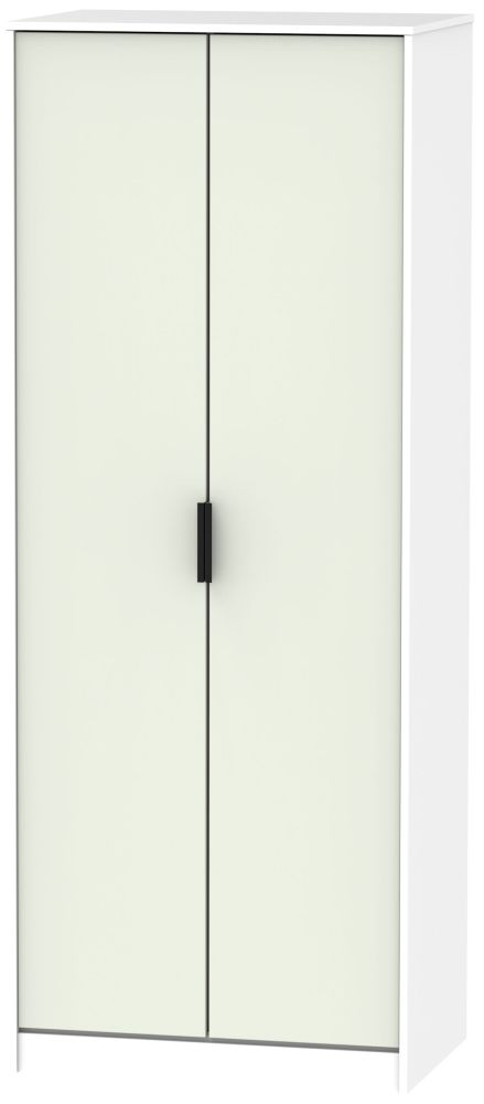 Hong Kong 2 Door Wardrobe - Kaschmir and White