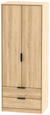 Hong Kong Nebraska Oak 2 Door 2 Drawer Wardrobe