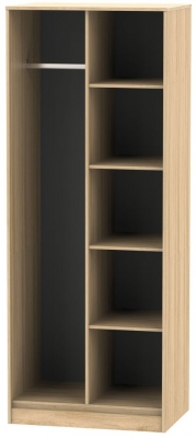 Hong Kong Nebraska Oak Open Shelf Wardrobe