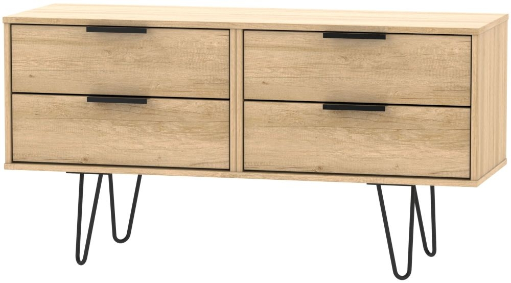 Hong Kong Nebraska Oak Bed Box with Hairpin Legs
