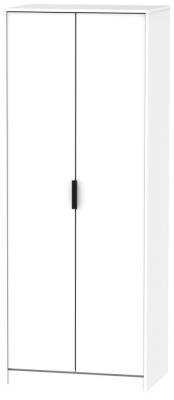 Hong Kong White 2 Door Wardrobe