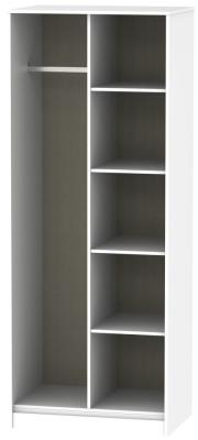 Hong Kong White Open Shelf Wardrobe