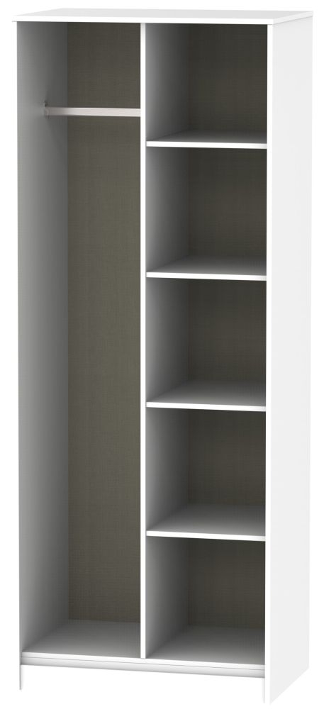 Hong Kong White Open Shelf Wardrobe