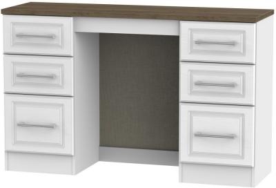 Kent Double Pedestal Dressing Table - White Ash and Oak