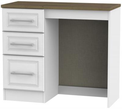 Kent Single Pedestal Dressing Table - White Ash and Oak