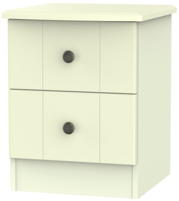 Kingston Cream Bedside Cabinet - 2 Drawer Locker