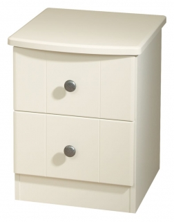 Kingston Cream Bedside Cabinet - 2 Drawer