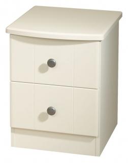 Kingston Cream Bedside Cabinet - 2 Drawer