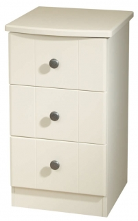 Kingston Cream Bedside Cabinet - 3 Drawer