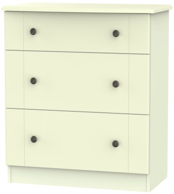 Kingston Cream Chest of Drawer - 3 Drawer Deep